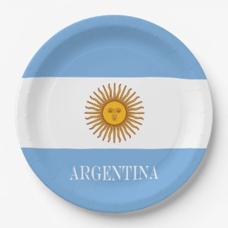 Flag of Argentina Paper Plate