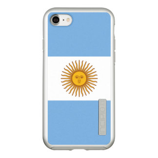 Flag of Argentina Silver iPhone Case