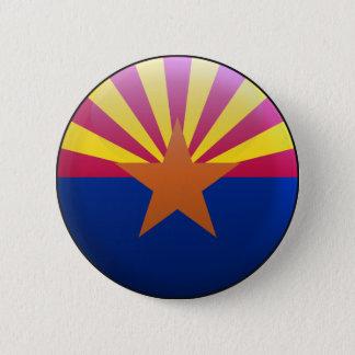 Flag of Arizona 6 Cm Round Badge
