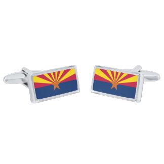Flag of Arizona Cufflinks Silver Finish Cufflinks