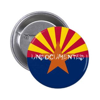 FlaG of Arizona UNDOCUMENTED 6 Cm Round Badge