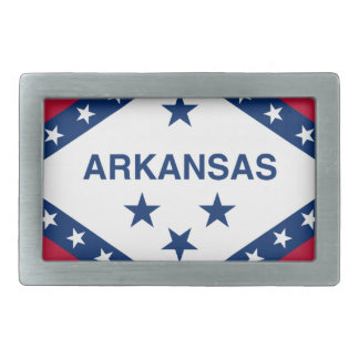 Flag Of Arkansas Rectangular Belt Buckle