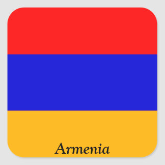 Flag of Armenia Square Sticker