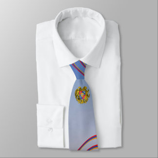 Flag of Armenia Stripes & Coat of Arms Tie