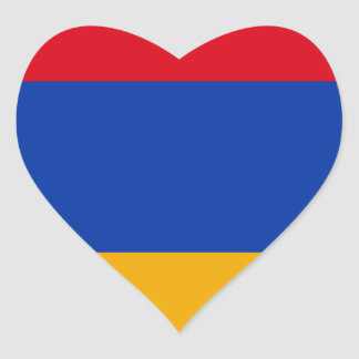 Flag of Armenia - Yeraguyn Heart Sticker