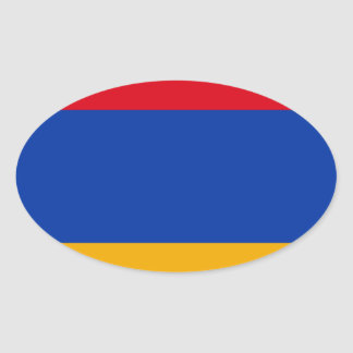 Flag of Armenia - Yeraguyn Oval Sticker