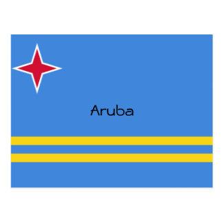 Flag of Aruba Custom Design Postcard
