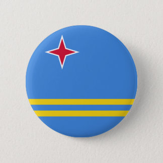 Flag of Aruba (Netherlands) on Pin / Button Badge