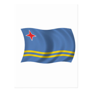 Flag of Aruba Postcard