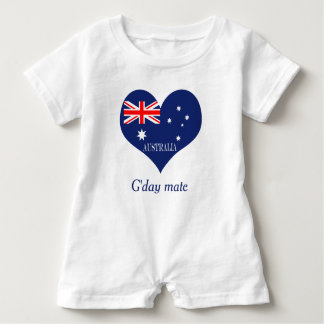Flag of Australia Baby Bodysuit