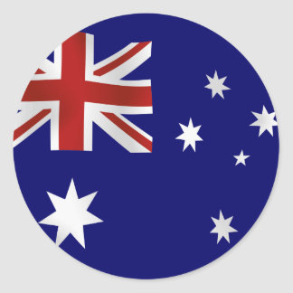 Flag of Australia Classic Round Sticker