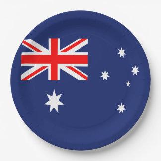 Flag of Australia Paper Plate
