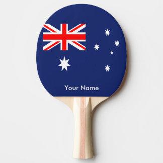 Flag of Australia Ping Pong Paddle