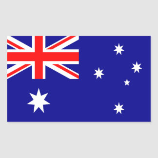 Flag of Australia Rectangular Sticker