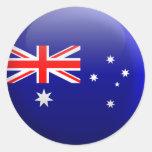 Flag of Australia Round Sticker