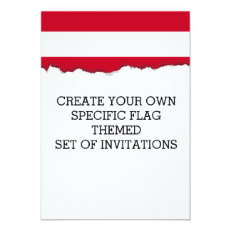Flag of Austria 13 Cm X 18 Cm Invitation Card