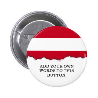 Flag of Austria 6 Cm Round Badge