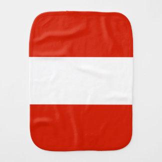 Flag of Austria Burp Cloth