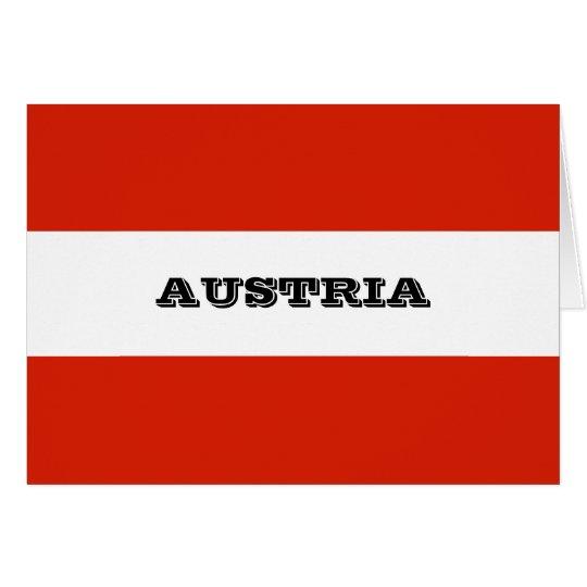 Flag of Austria Card