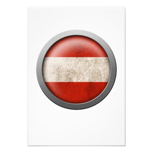 Flag of Austria Disc Custom Invite