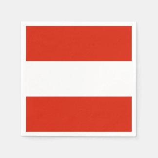 Flag of Austria Disposable Serviettes