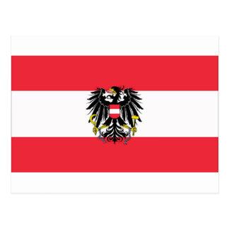 Flag of Austria - Flagge Österreichs Postcard