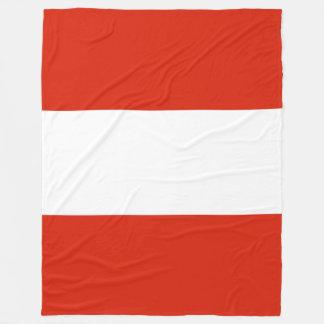 Flag of Austria Fleece Blanket