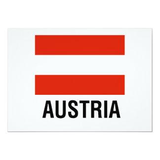 FLAG of AUSTRIA 13 Cm X 18 Cm Invitation Card