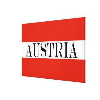 Flag of Austria large Canvas Print