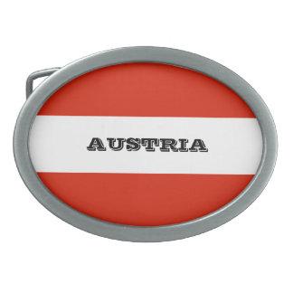 Flag of Austria Oval Belt Buckle