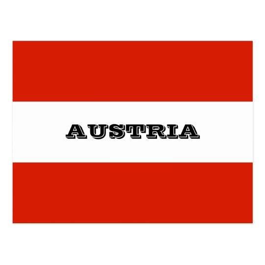 Flag of Austria Postcard