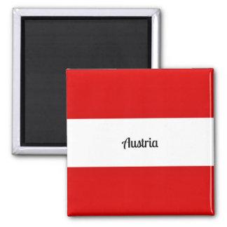 Flag of Austria Square Magnet