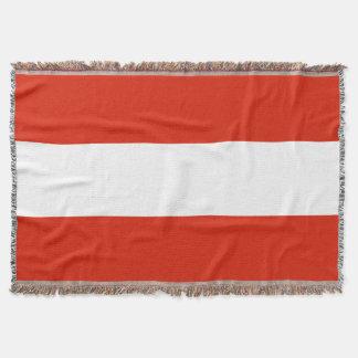Flag of Austria Throw Blanket