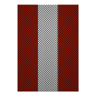 Flag of Austria with Carbon Fiber Effect Personalized Announcement