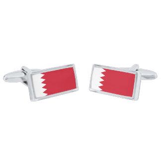 Flag of Bahrain Cufflinks Silver Finish Cuff Links