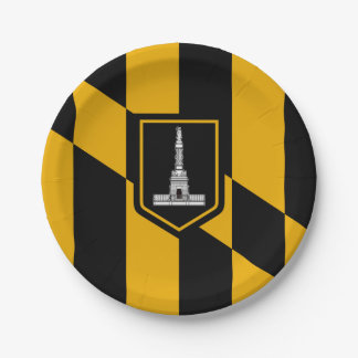 Flag of Baltimore, Maryland 7 Inch Paper Plate
