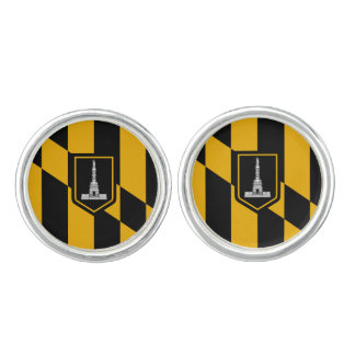 Flag of Baltimore, Maryland Cufflinks