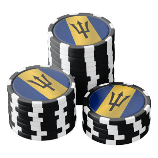 Flag of Barbados Poker Chips