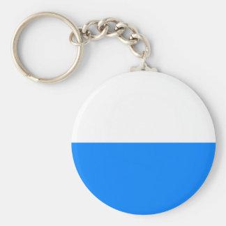 Flag of Bavaria Basic Round Button Key Ring