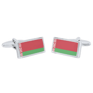 Flag of Belarus Cufflinks Silver Finish Cufflinks