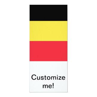 Flag of Belgium 10 Cm X 24 Cm Invitation Card