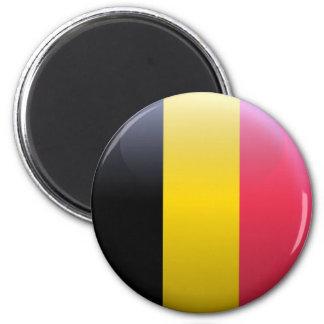 Flag of Belgium 6 Cm Round Magnet