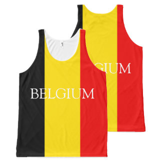 Flag of Belgium All-Over Print Singlet