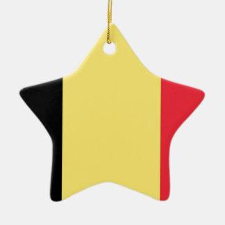 Flag of Belgium Ceramic Star Decoration
