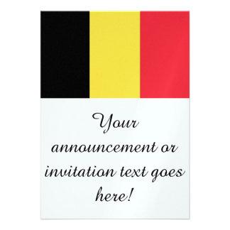 Flag of Belgium Invitations