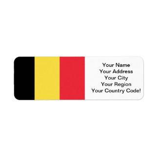 Flag of Belgium Return Address Label