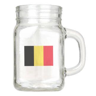 Flag of Belgium Mason Jar