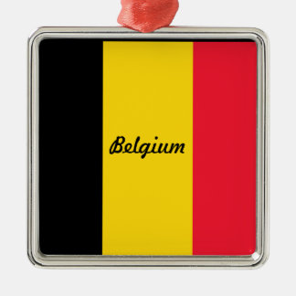 Flag of Belgium Metal Ornament
