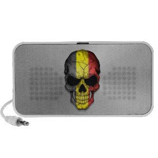 Flag of Belgium on a Steel Skull Graphic Speakers