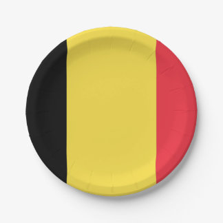 Flag of Belgium Paper Plates 7 Inch Paper Plate